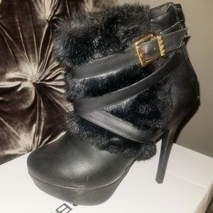Faux Fur Ankle Boots